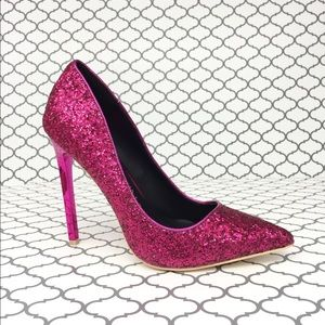 Shoes - 💋Fuchsia Glitter Heels💋